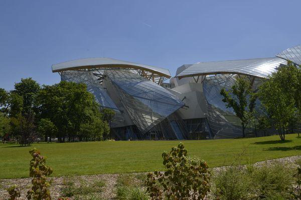 La fondation Louis-Vuitton, au bois de Boulogne, à Paris.