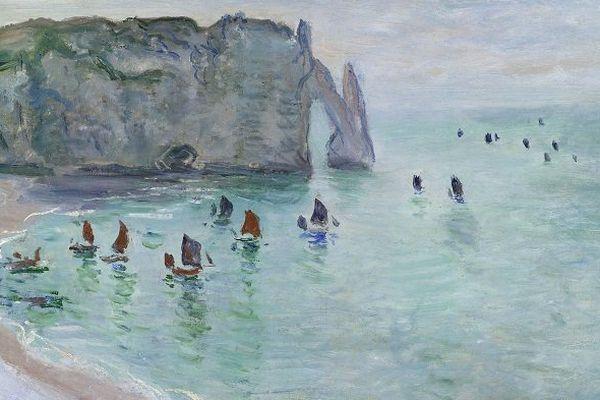 Etretat depuis la porte Daval par Claude Monet.