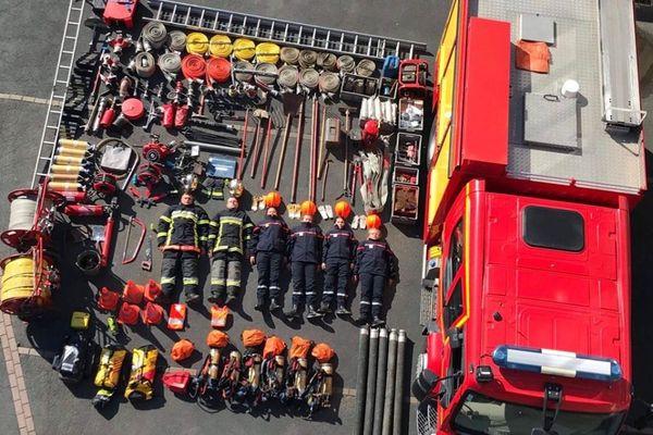 Tétris challenge réalisé samedi 21 septembre 2019 par les jeunes sapeurs-pompiers de Guise dans l'Aisne