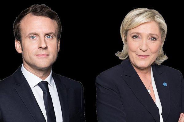 Emmanuel Macron et Marine Le Pen au second tour de l'élection présidentielle 2017