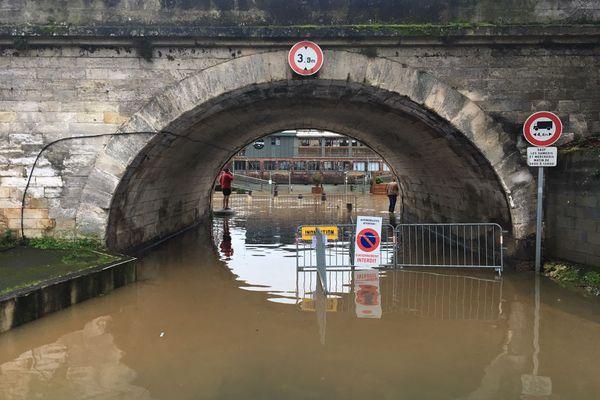 La voie verte submergée par l'Isle a été fermée à la circulation jusqu'au 12 février
