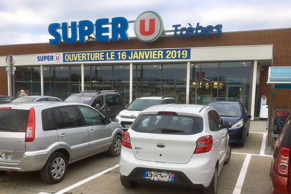 Trèbes (Aude) - réouverture du Super U, 10 mois après l'attentat meurtrier - 16 janvier 2019.