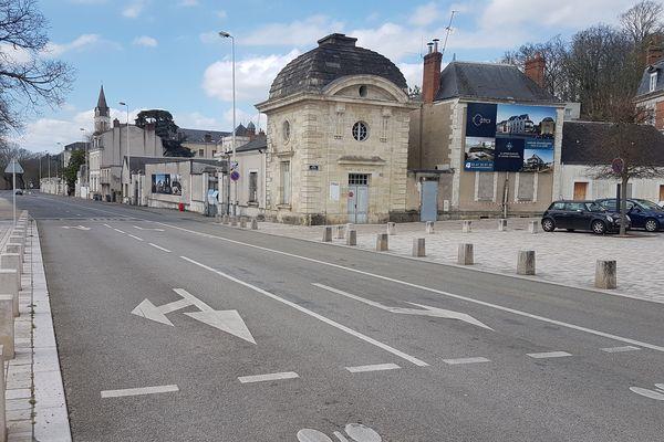 Le quai de Portillon à Tours au 2ème jour de confinement général.