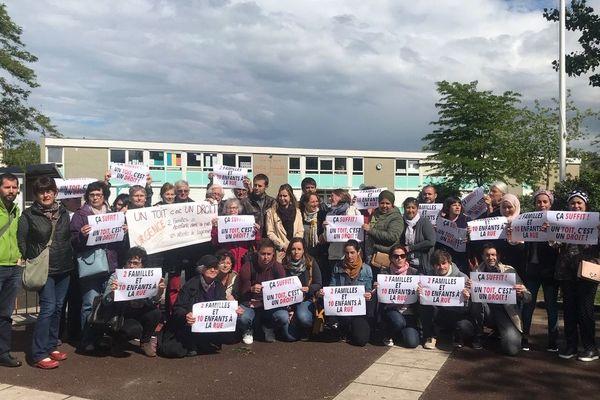 Le collectif manceau mobilisé pour le relogement de familles de Mayotte, le 28 mai 2019