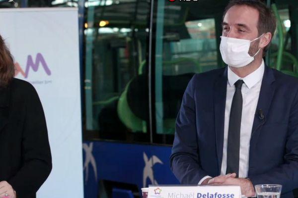 Michaël Delafosse, dans le dépôt de la Mosson, à Montpellier, le 9 décembre 2020.