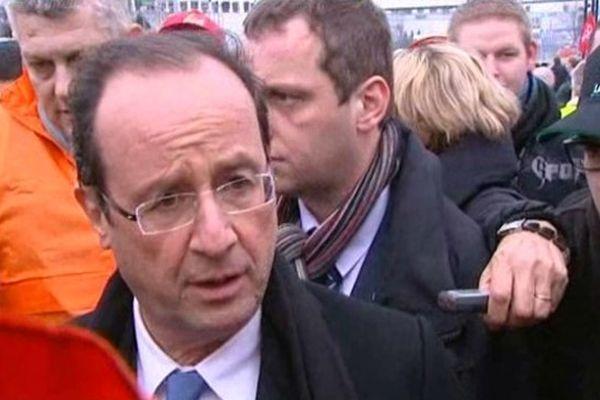Le candidat PS à Florange le 25 février 2012