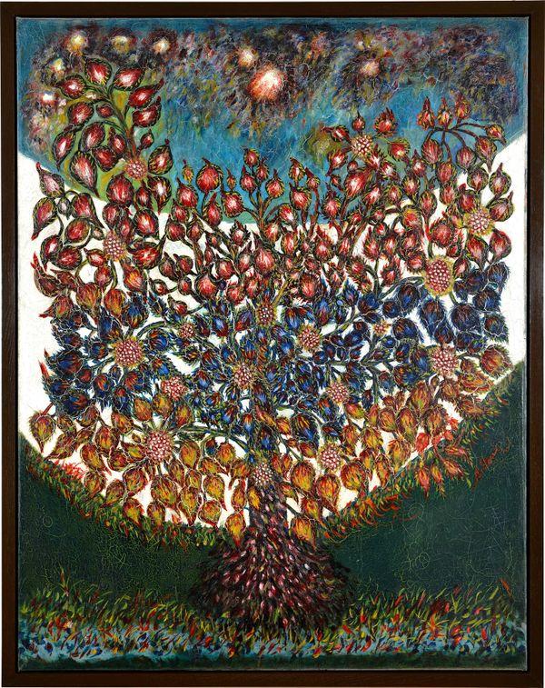 L'arbre de vie de Séraphine Louis, vers 1928, huile et ripolin sur toile, n° Inv. A.00.6.187, musée d'Art et d'Archéologie, Senlis