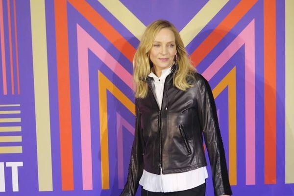 """L'actrice Uma Thurman était présente hier soir pour présenter sa série """"Chambers"""" au festival Séries Mania."""