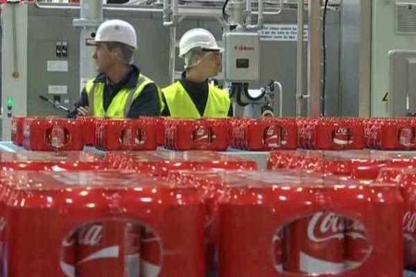 Une usine d'embouteillage Coca-Cola.