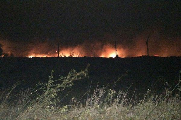 A Sigean, l'incendie avait parcouru 500 hectares à 22h.