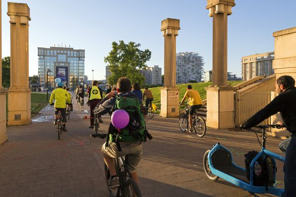 Balade à vélo dans Montpellier.