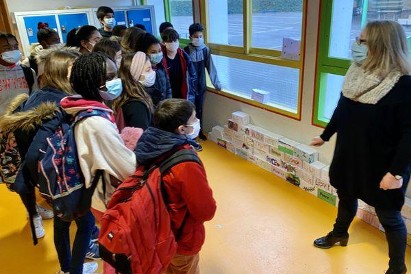 La cité scolaire de Raymond Loewy, en Creuse, mobilisée pour cette journée de la laïcité à l'école, mercredi 9 décembre 2020.