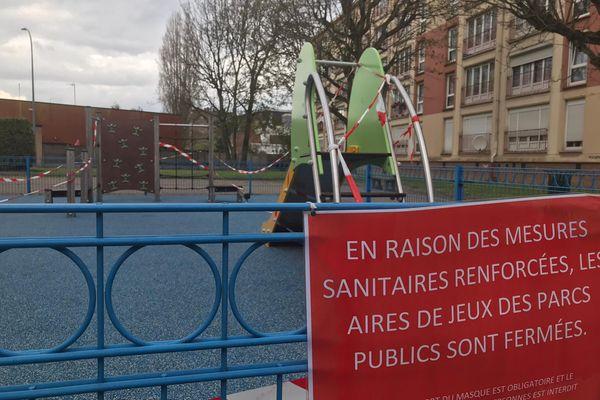 Le square de Kuurne, à Marcq-en-Barœul
