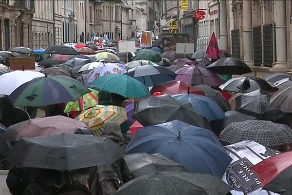 Manifestation des retraités à Besançon le 15 mars 2018