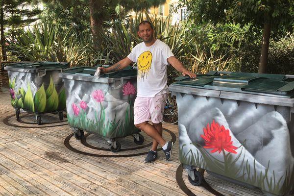 Des containers colorés pour les parcs niçois.
