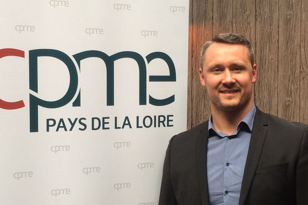 Olivier Morin président de la CPME des Pays de La Loire, chef d'entreprise responsable ne veut pas mettre en danger la santé de ses salariés par le covid-19