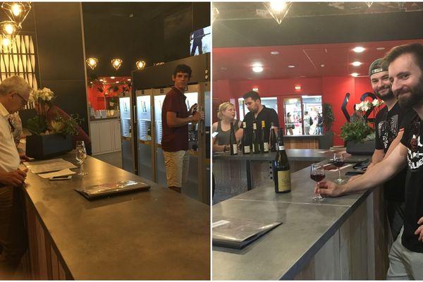 Dès les premières heures de l'ouverture de la Foire aux vins d'Alsace (FAV), le hall climatisé accueille du monde... même si pour certains, c'est le vin et non le frais qui attire.