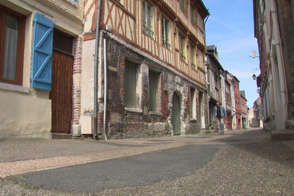 Le centre-bourg de Quillebeuf-sur-Seine