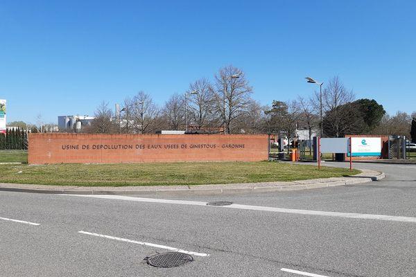 L'usine de dépollution des eaux usées de Ginestous à Toulouse (Haute-Garonne).