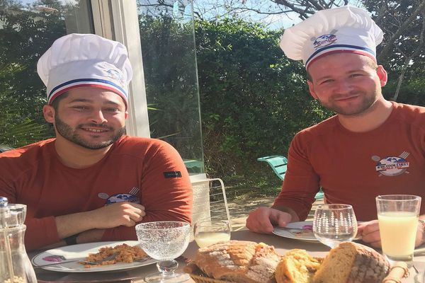 Montpellier - Franck et Clément, deux anciens élèves du lycée hôtelier Georges Frêche se préparent à entamer un tour du monde - février 2020.