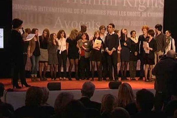 Concours de plaidoiries des lycéens, les lauréats 2012