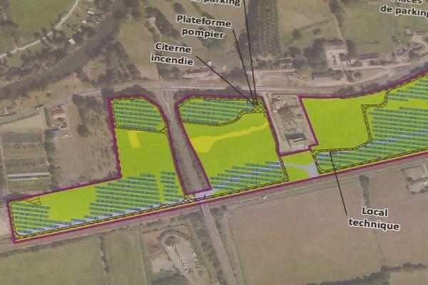 Le futur parc photovoltaïque de Saint-Mars-La-Brière, en Sarthe