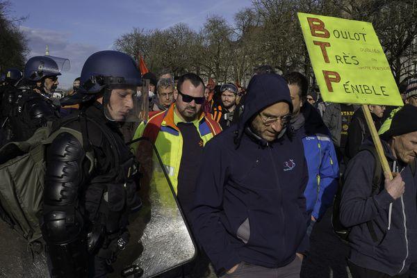 Manif contre la réforme des retraites à Nantes, le 16 janvier 2020