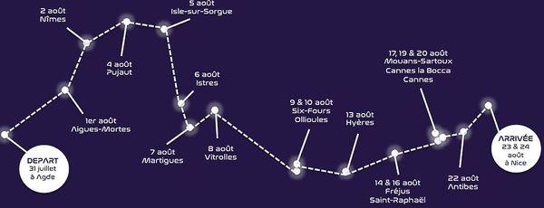Le parcours du Space Bus en 18 étapes.