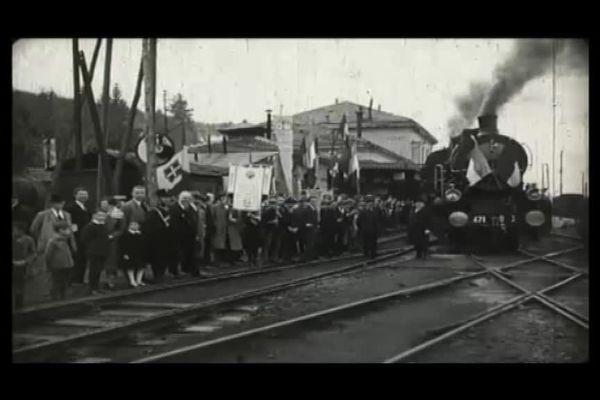 Les lignes franco-italiennes Nice-Breil-Cunéo et Breil-Vintimille inaugurées en grande pompe le 30 octobre 1928