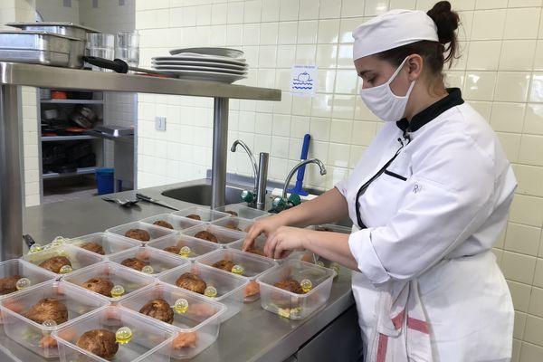 Louise Gourdeau, apprentie CAP cuisine en un an au CFA de Blois