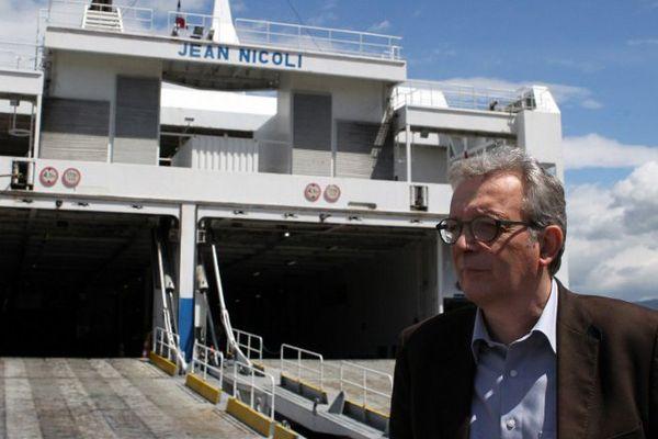 Pierre Laurent, le secrétaire national du PCF ce vendredi à Ajaccio.