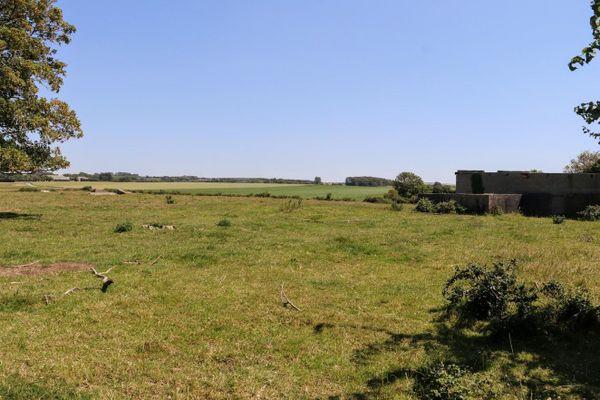 Un ancien hangar de l'aérodrome d'Audembert, dans le hameau de Warcove.