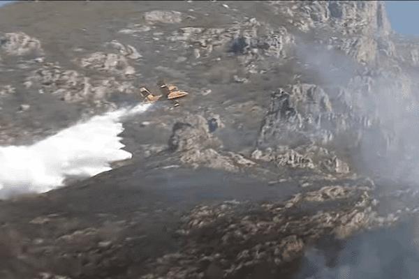 Quatre Canadairs sont acheminés sur place pour lutter contre le feu