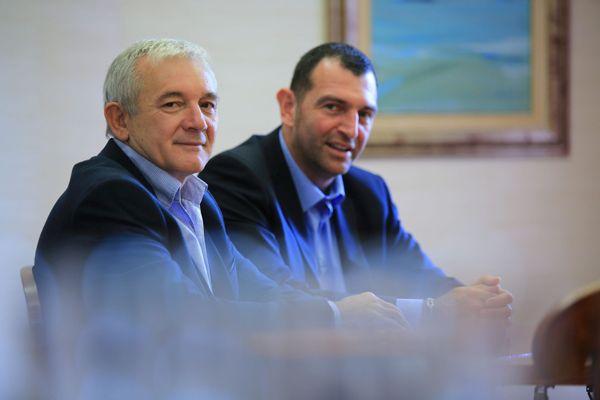 Jean-Charles Orsucci et François Orlandi, durant la campagne des territoriales de 2017.