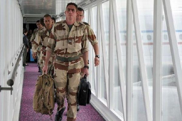 Des militaires de Pamiers à leur arrivée en France