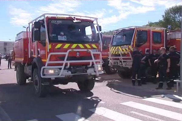 Les pompiers aubois et haut-marnais sont arrivés à Marseille pour prêter renfort au SDIS 13.