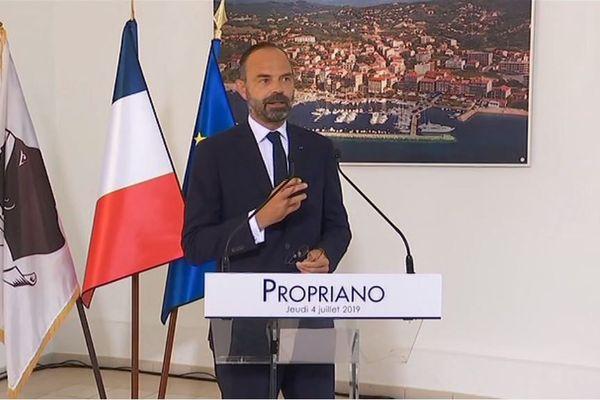 Ce jeudi 4 juillet, Edouard Philippe est en visite en Corse-du-Sud.