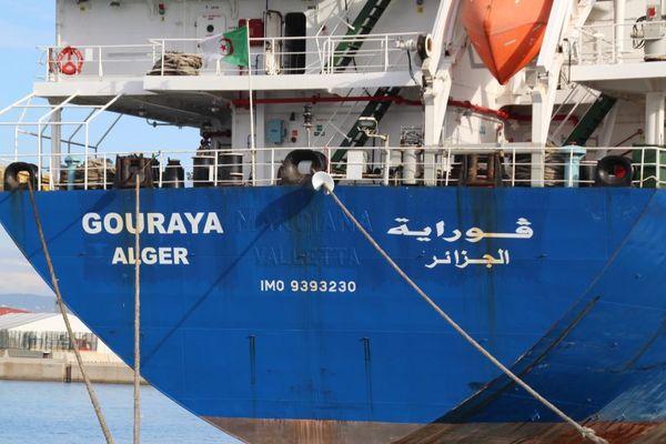 Le marin est mort à bord de ce cargo Le Gouraya, battant pavillon algérien.