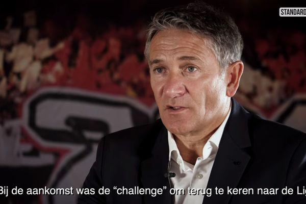 Philippe Montanier, interviewé par son nouveau club, le Standard de Liège