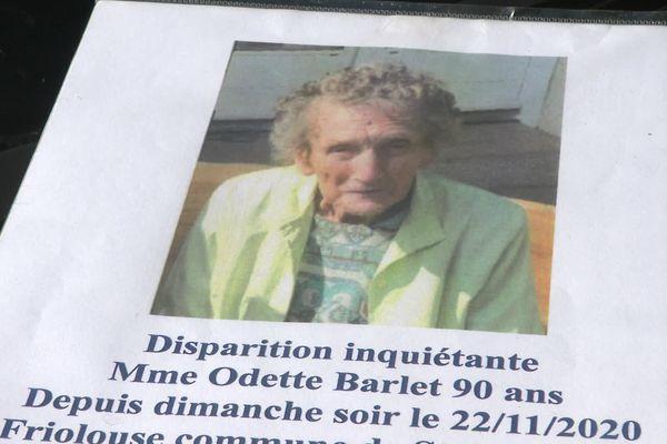 Qu'est-il arrivé à Odette Barlet, 90 ans, disparue depuis 3 mois ?