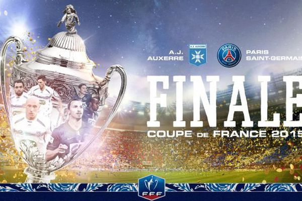 La finale de la Coupe de France de football 2014-2015 opposera l'AJ Auxerre, club de Ligue 2, au Paris Saint-Germain, club de Ligue 1. Le match aura lieu au stade de France, à Saint-Denis, samedi 30 mai 2015, à 21 heures.