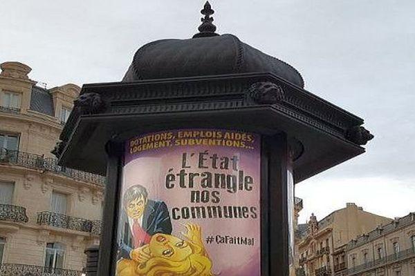 Béziers (Hérault) - les nouvelles affiches de la mairie - septembre 2017.