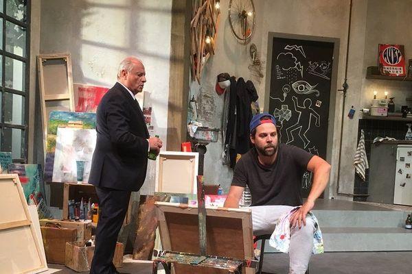Arthur Jugnot et Patrick Braoudé dans la pièce « Père ou Fils »