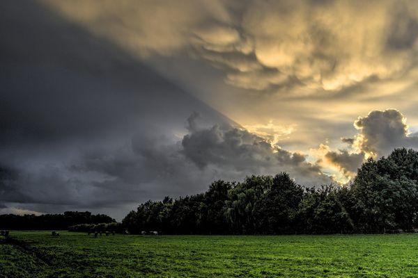 Un ciel nuageux (image d'illustration).