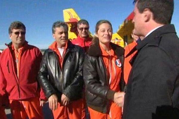 Manuel Valls aux 50 ans de la base de la sécurité civile à Marignane