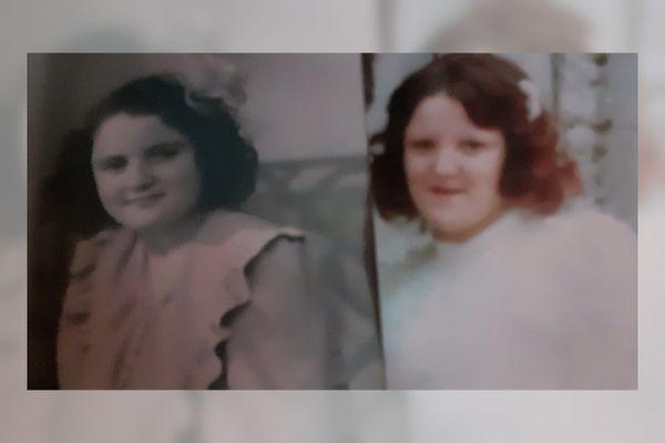 Yvette à gauche et Patricia à droite âgées de 18 ans, mais à 20 ans d'écart