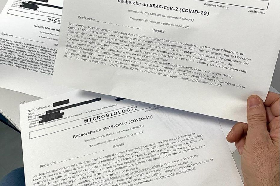 Attestations retouchées, faux tests PCR : le business autour du Covid-19 prend de l'ampleur en Corse - France 3 Régions