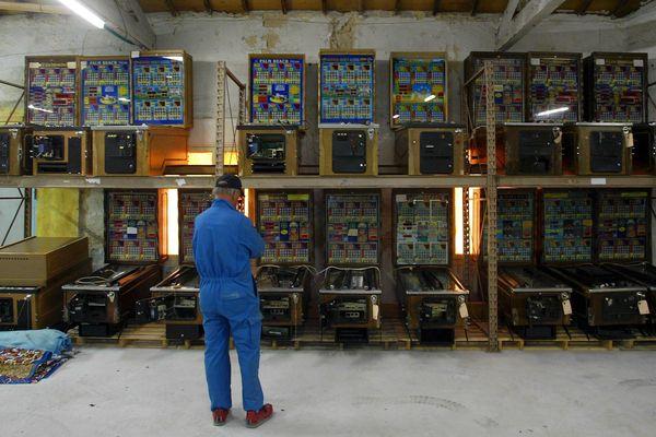 Saisie de machines à sous de type Bingo en avril 2005. Elles venaient de toute la région Paca.