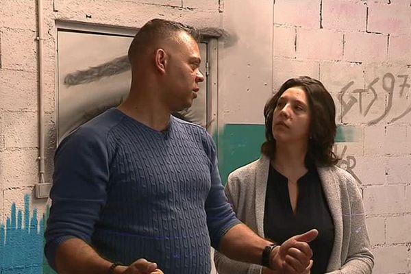 Gérald Chérubin-Jeannette lors du tournage du clip