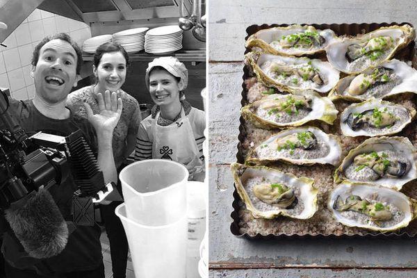 """Une recette à savourer avec des huîtres bretonnes (et de la bonne humeur) grâce à Nathalie Beauvais du restaurant """"Le jardin gourmand"""" à Lorient"""